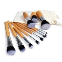 Набор таклоновых кистей с бамбуковыми ручками 11 шт.
