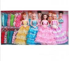 Подарочный набор из 8 музыкальных кукол с гардеробом