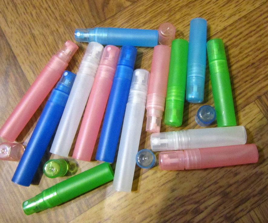 Атомайзеры для духов, флаконы для парфюмерии, фиолки пластиковые 10 мл 05