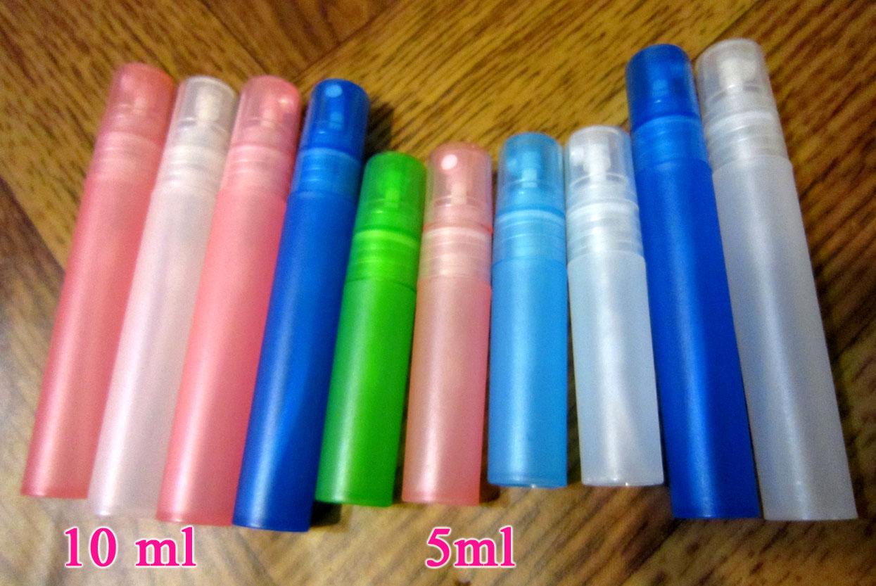 Атомайзеры для духов, флаконы для парфюмерии, фиолки пластиковые 5 мл 02