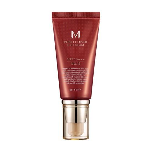 Многофункциональный увлажняющий питательный антивозрастной тональный BB крем с защитой от солнца Missha M Perfect Cover BB Cream SPF42 PA+++