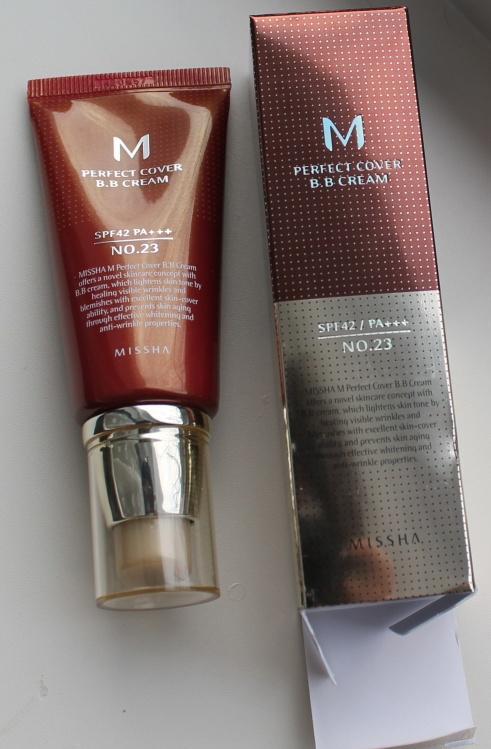 Многофункциональный увлажняющий питательный антивозрастной тональный BB крем с защитой от солнца Missha M Perfect Cover BB Cream SPF42 PA+++ 07