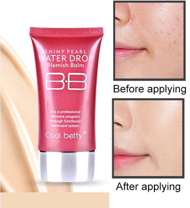 Многофункциональный увлажняющий питательный антивозрастной тональный BB крем с защитой от солнца Hot Pink Shiny Pearl Water Drop BB Cream 07