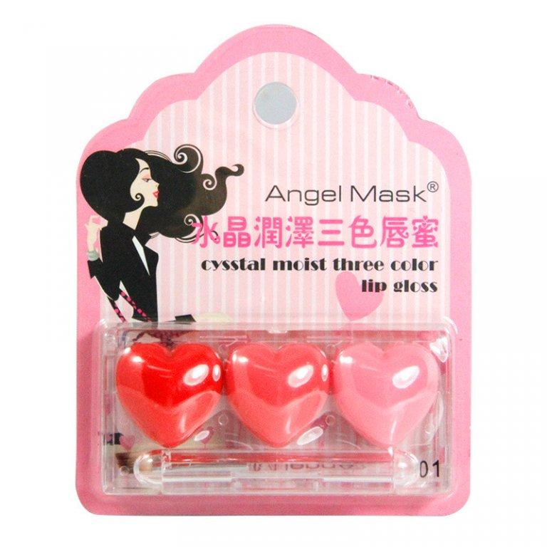 Оригинальный блеск для губ в виде трех сердечек по супер цене 01