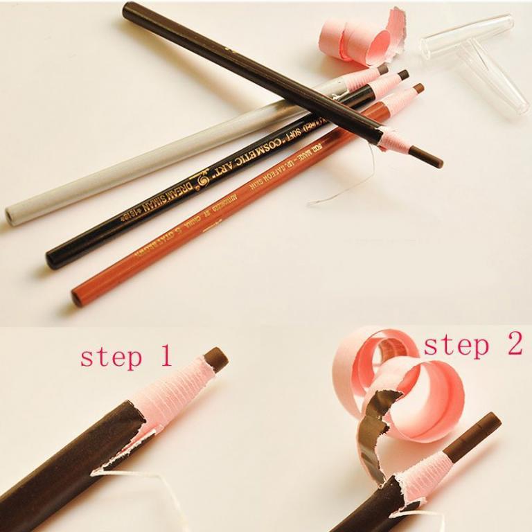 Бумажный карандаш для глаз и бровей 02