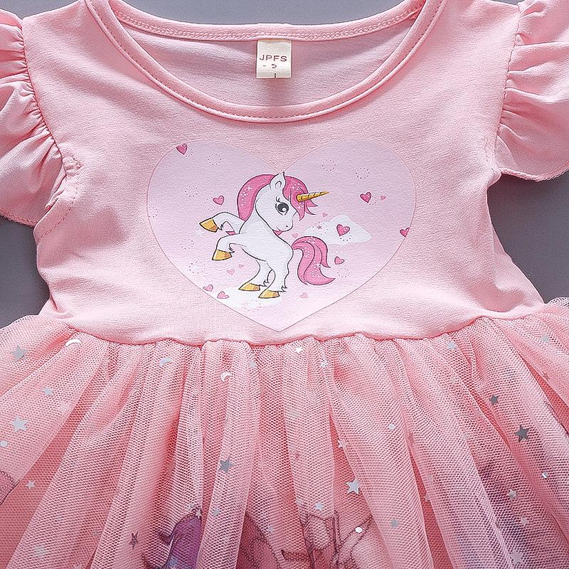 Детские нарядные платья Единорог 07