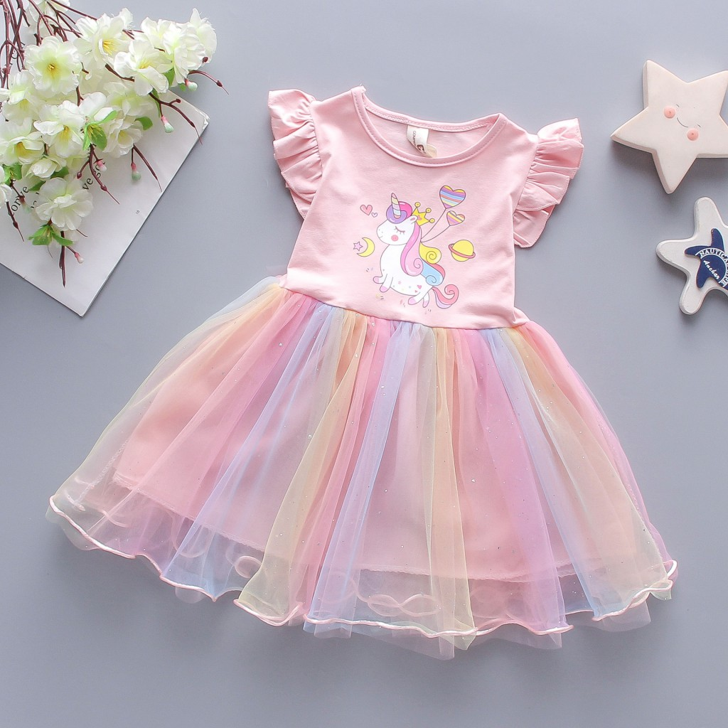 Детские нарядные платья Единорог 03