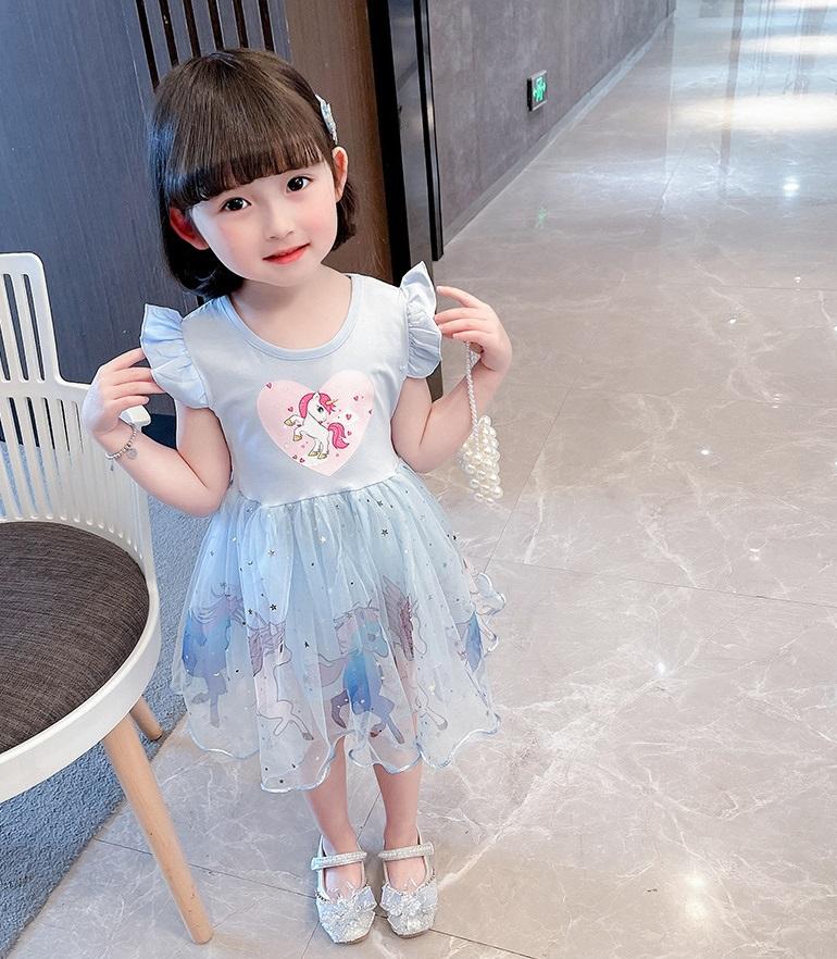 Детские нарядные платья Единорог 09