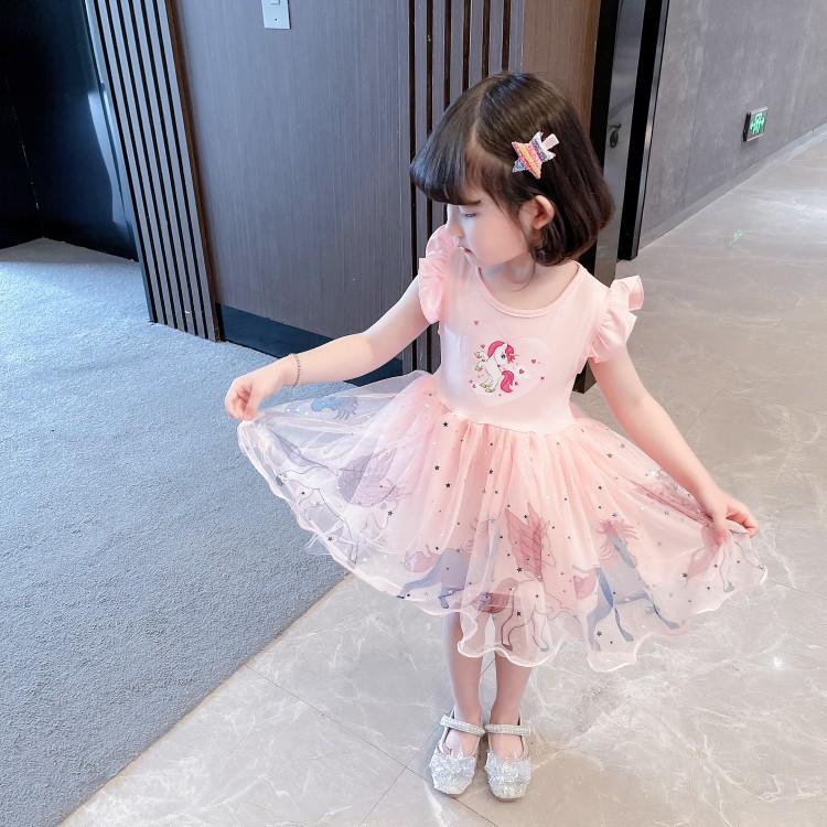 Детские нарядные платья Единорог 08