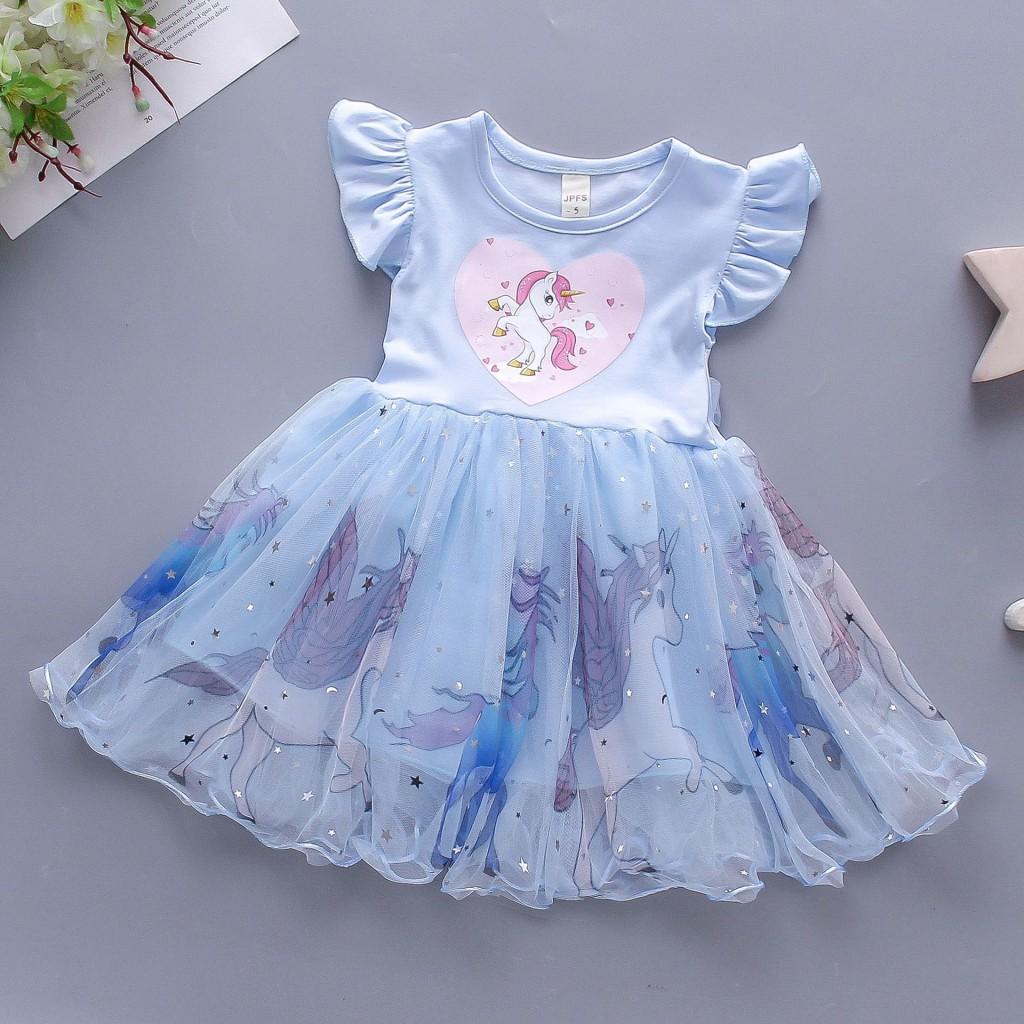 Детские нарядные платья Единорог 04