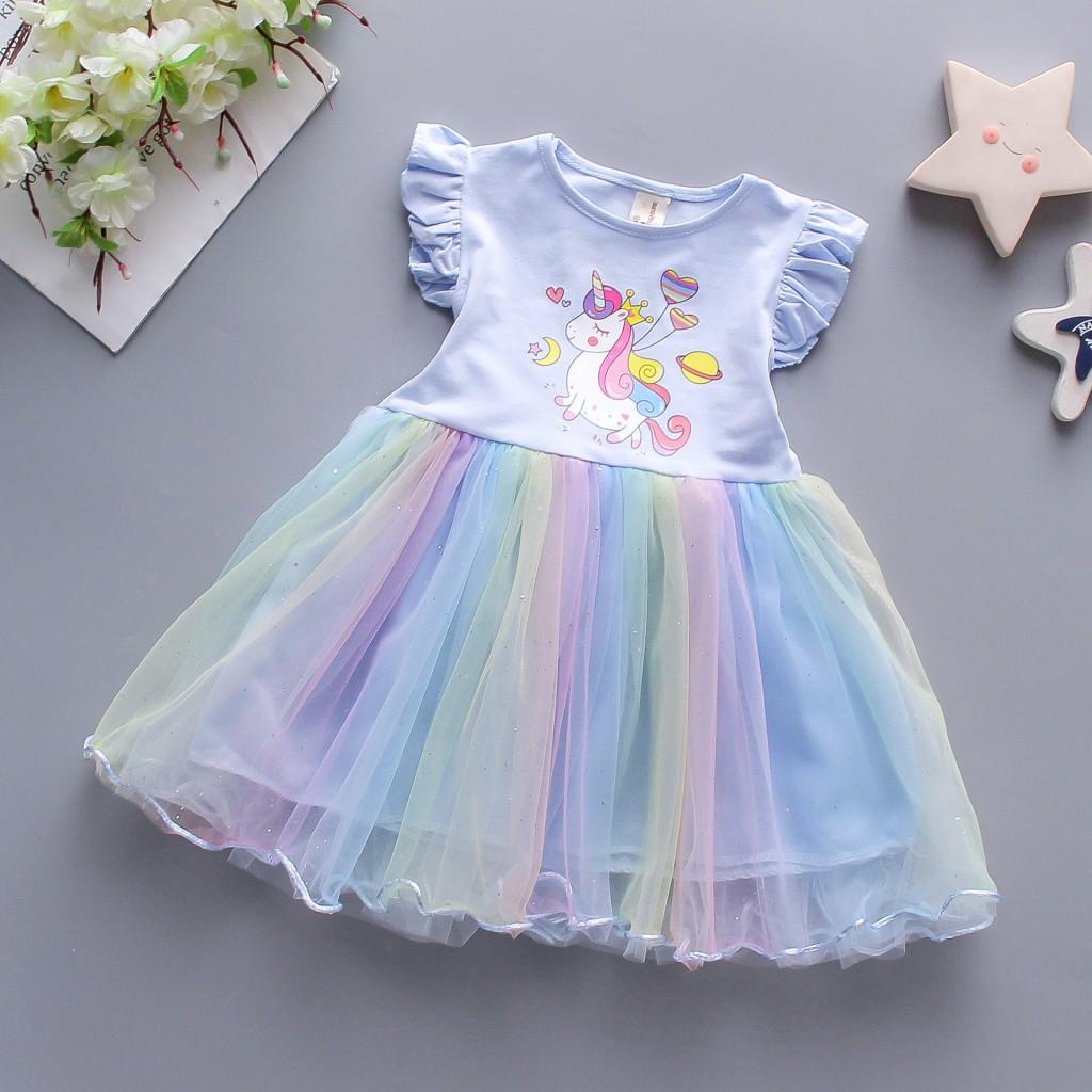 Детские нарядные платья Единорог 02