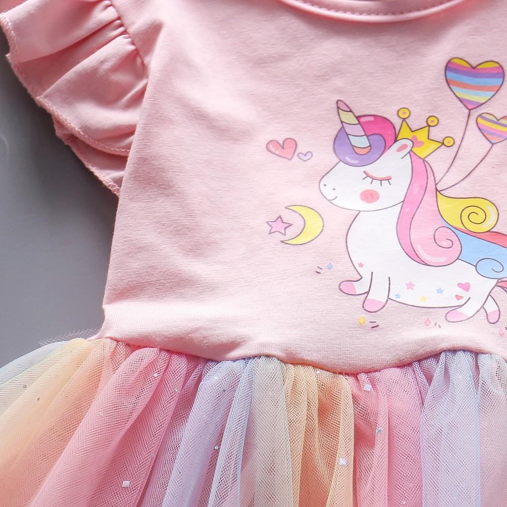 Детские нарядные платья Единорог 05