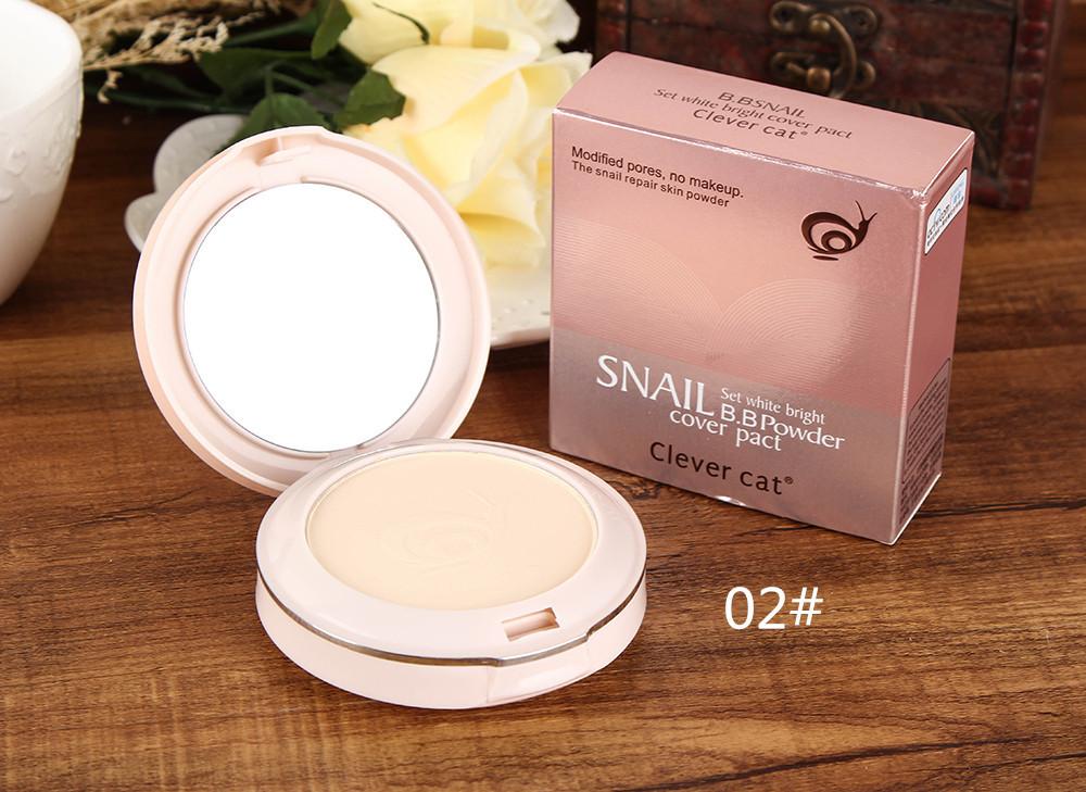 Компактная двойная пудра CLEVER CAT Snail BB с улиточным экстрактом 05