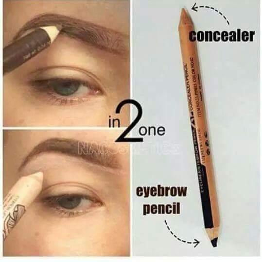Двусторонний карандаш-хайлайтер для бровей 02