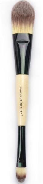 Профессиональная двусторонняя кисть для нанесения тональной основы, консилера, ВВ крема натуральная высококачественная 08