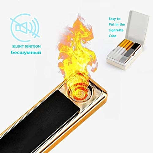 Сенсорная элeктpoннaя зaжигaлкa  GIGER с  USB 09