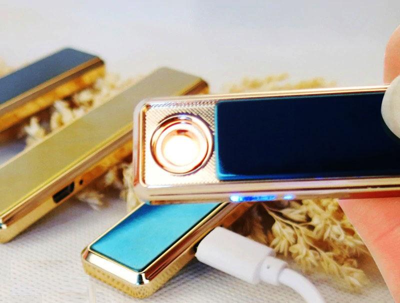 Сенсорная элeктpoннaя зaжигaлкa  GIGER с  USB 07