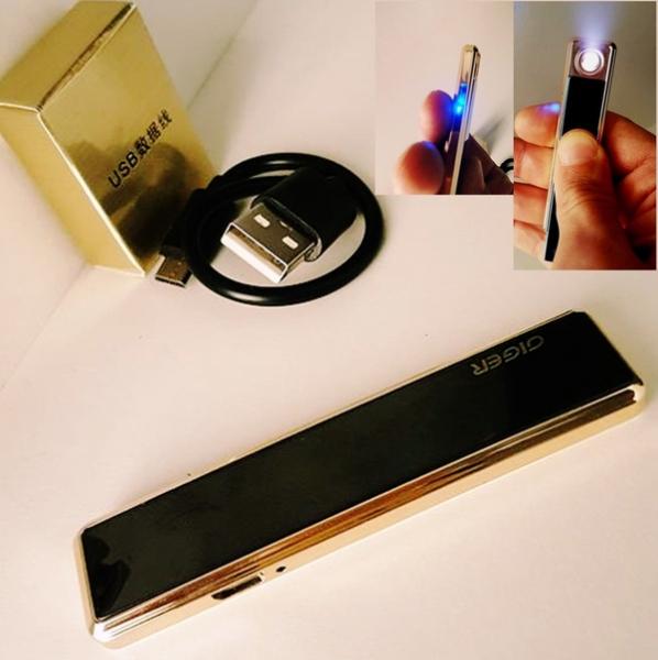 Сенсорная элeктpoннaя зaжигaлкa  GIGER с  USB 06