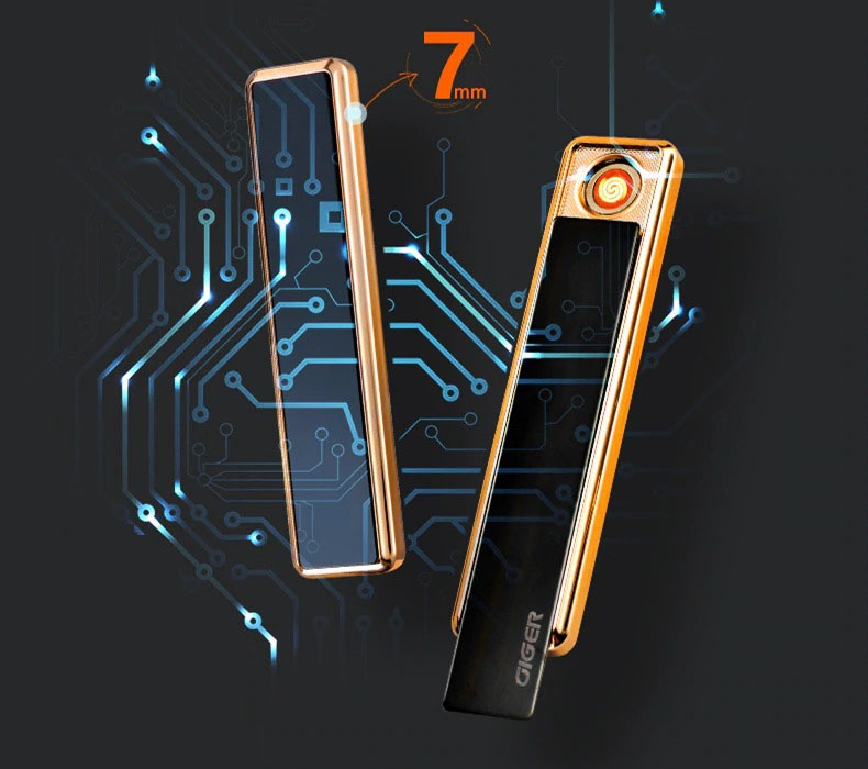 Сенсорная элeктpoннaя зaжигaлкa  GIGER с  USB 08