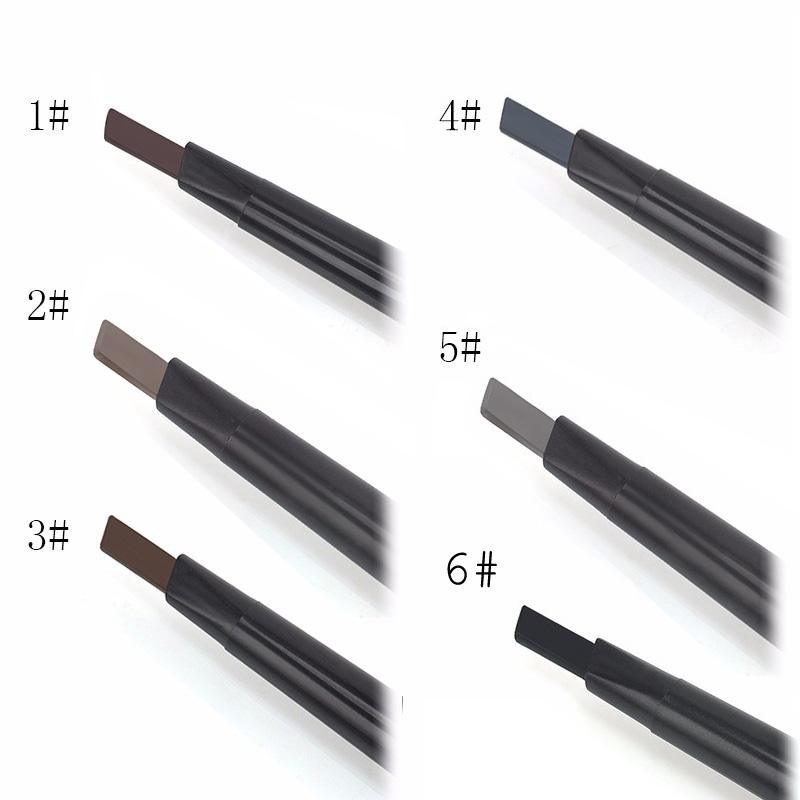 Механический карандаш для бровей с плоским грифелем и со щеточкой 01