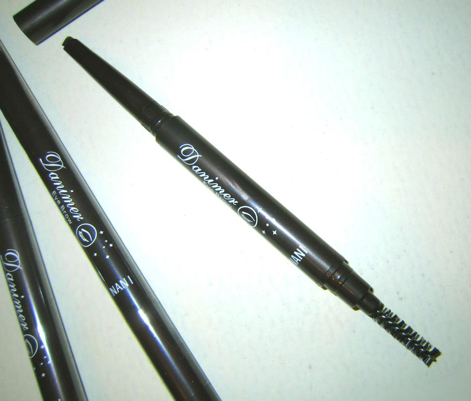 Механический карандаш для бровей с плоским грифелем и со щеточкой 04