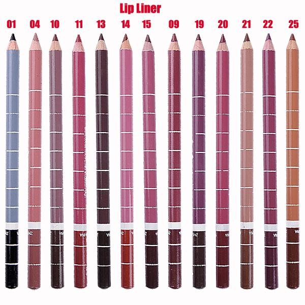 Контурные карандаши для губ разнообразных оттенков 04