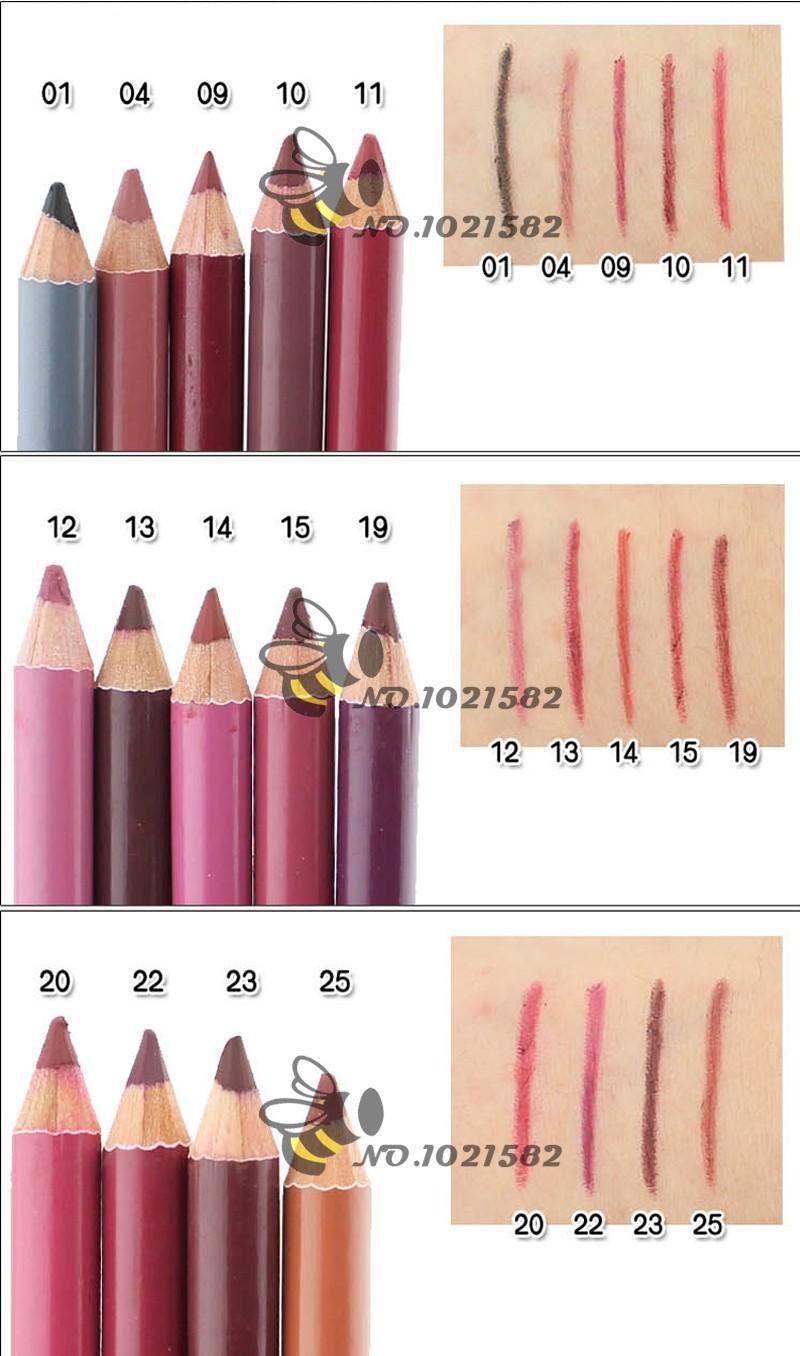 Контурные карандаши для губ разнообразных оттенков 05