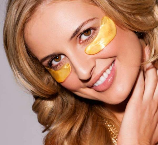 Коллагеновые маски под глаза с био-золотом Crystal Collagen Gold Powder Eye Mask