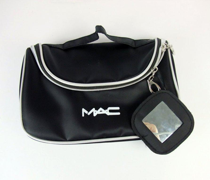 Вместительный кейс для косметики (косметичка) с логотипом Mac 01