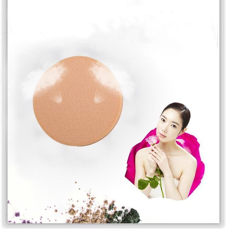 Универсальный круглый спонж для макияжа бежевый 05