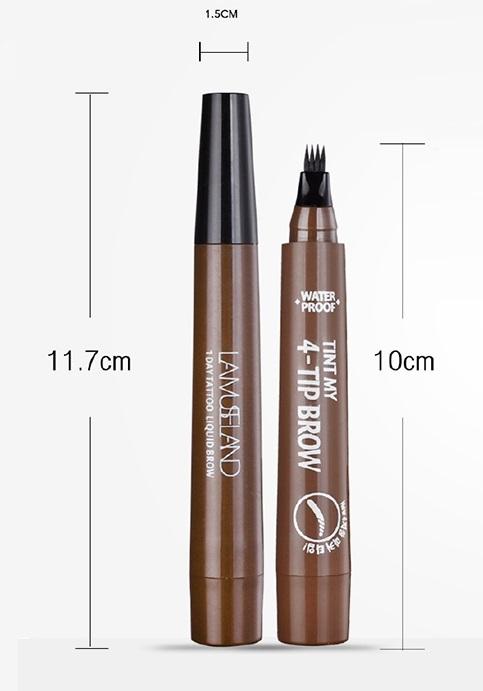 Маркер для бровей с эффектом микроблейдинга AIYI Tint 4-Tip Brow 02