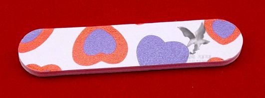 Мини-пилочка для ногтей 2-х сторонняя с абразивным покрытием 01