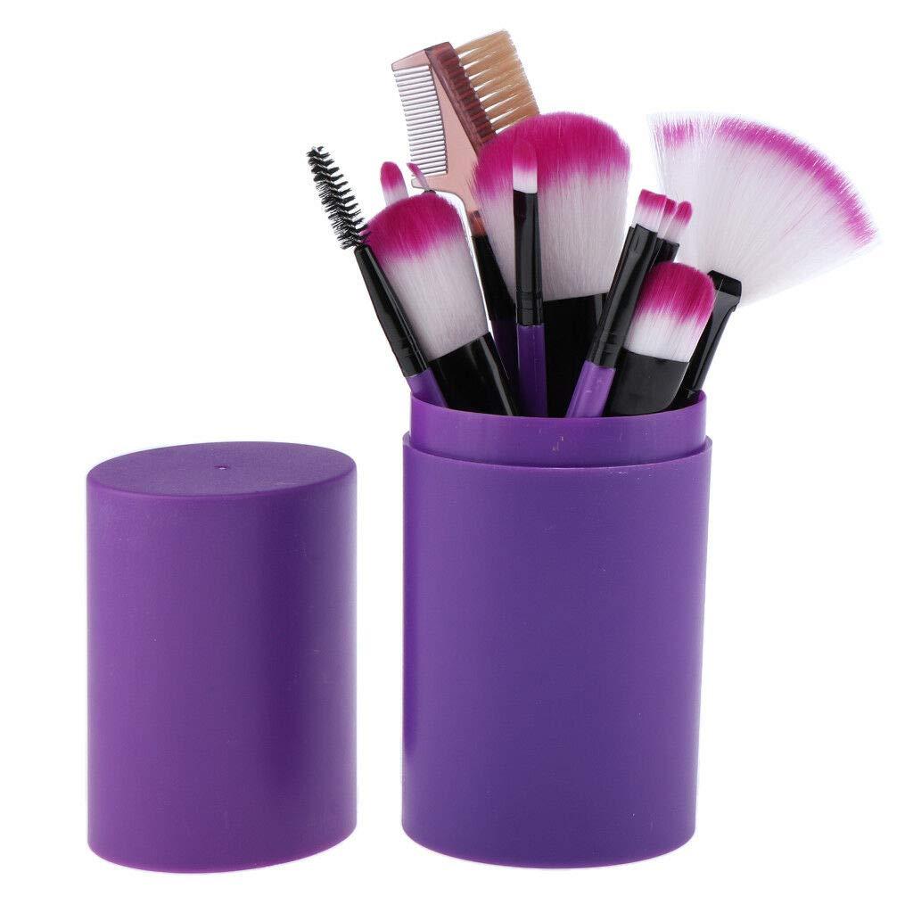 Набор кистей для макияжа 12 штук в тубусе 09