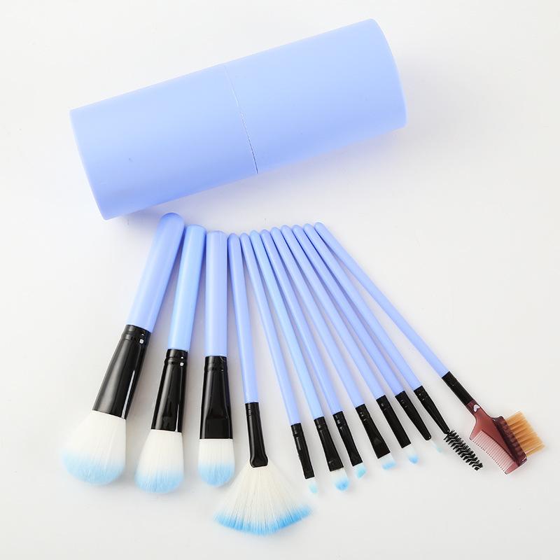 Набор кистей для макияжа 12 штук в тубусе 07
