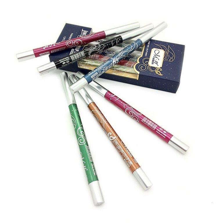 Набор из механических выкручивающихся 12 карандашей для макияжа 01