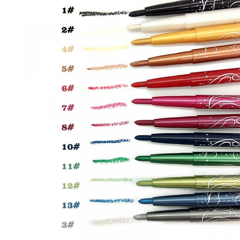 Набор из механических выкручивающихся 12 карандашей для макияжа 04