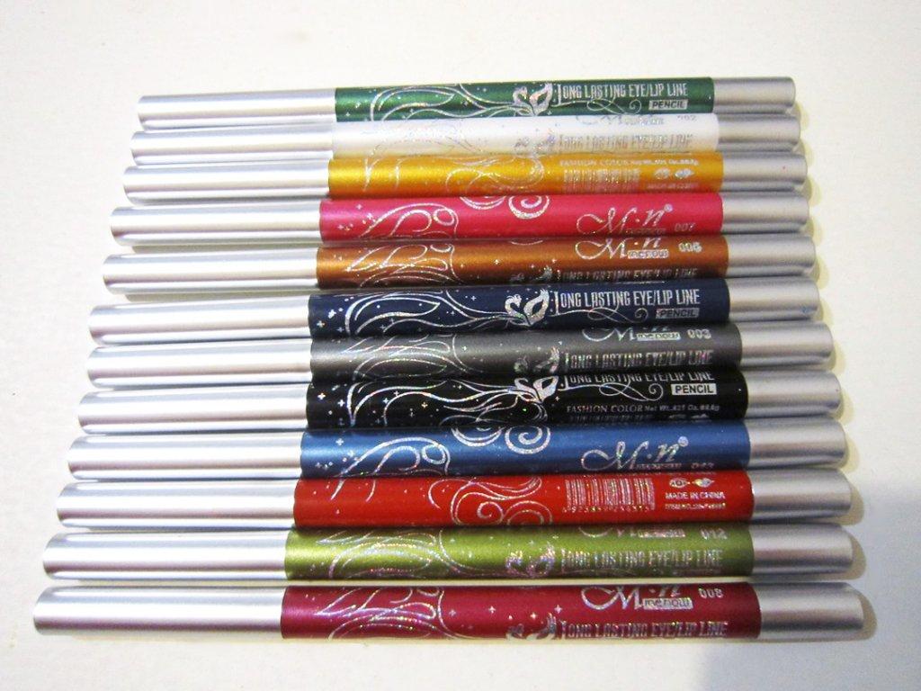 Набор из механических выкручивающихся 12 карандашей для макияжа 05