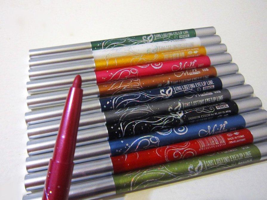 Набор из механических выкручивающихся 12 карандашей для макияжа 06