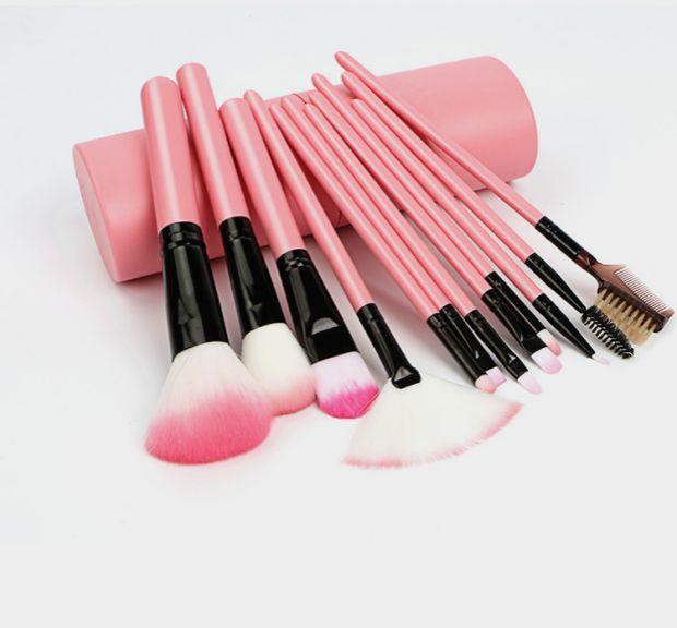 Набор кистей для макияжа 12 штук в тубусе 06