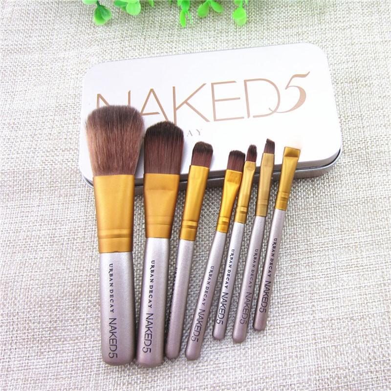 Набор кистей для макияжа Naked5 из 7 кистей 01
