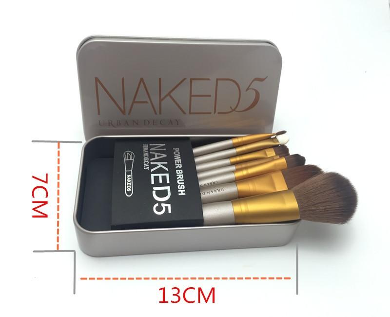 Набор кистей для макияжа Naked5 из 7 кистей 02