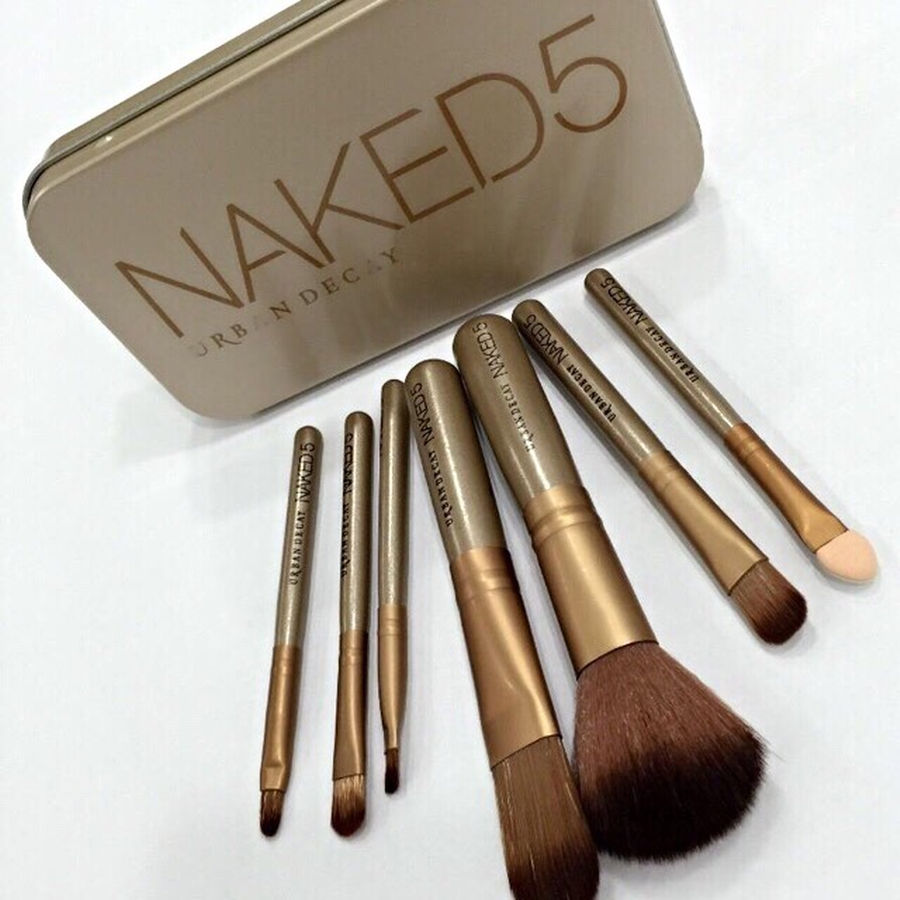 Набор кистей для макияжа Naked5 из 7 кистей 04