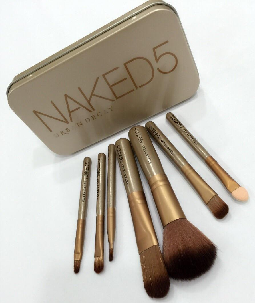 Набор кистей для макияжа Naked5 из 7 кистей 09