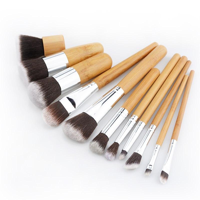 Набор таклоновых кистей с бамбуковыми ручками 11 шт. 04