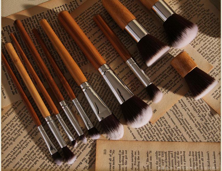 Набор таклоновых кистей с бамбуковыми ручками 11 шт. 05