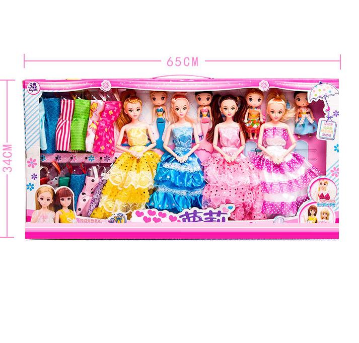 Подарочный набор из 8 музыкальных кукол с гардеробом 03