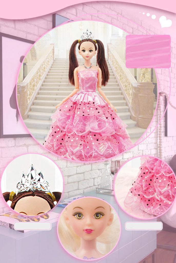 Подарочный набор из 8 музыкальных кукол с гардеробом 02