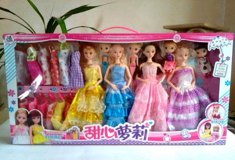 Подарочный набор из 8 музыкальных кукол с гардеробом 01