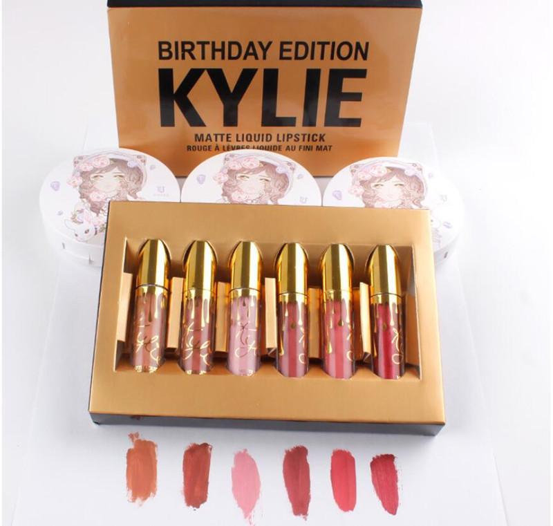 Лимитированный набор жидких матовых помад Kylie Birthday Edition 01