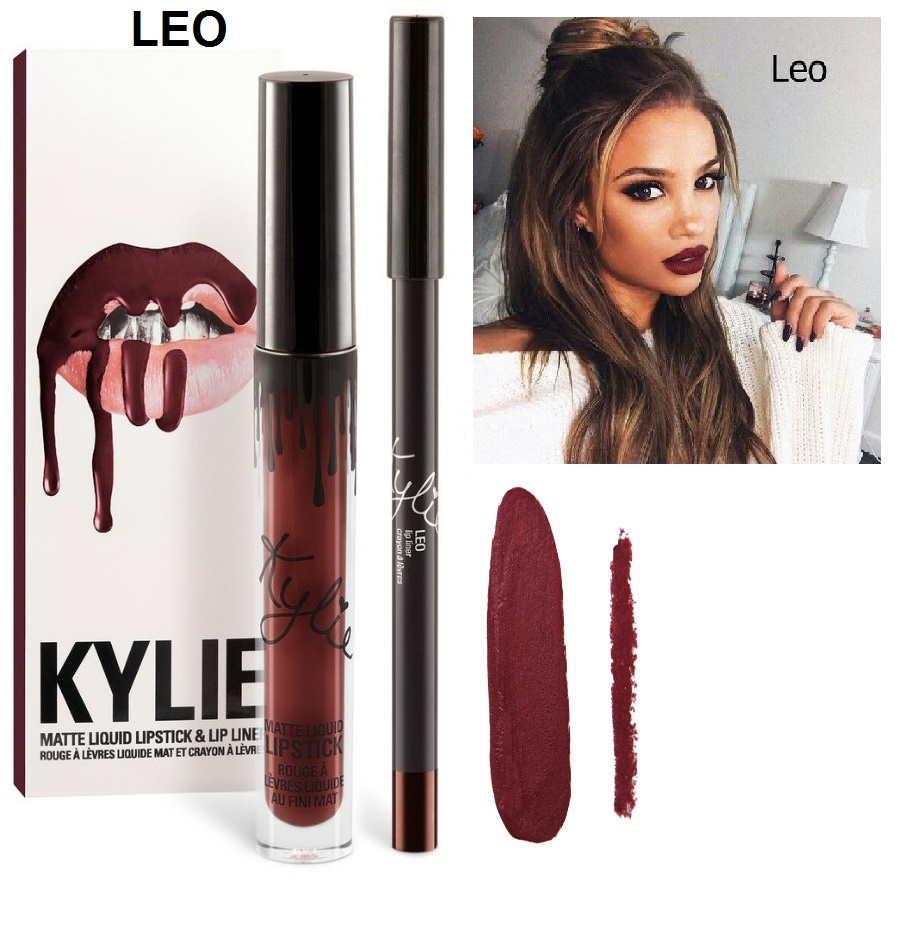 Набор помада + карандаш Kylie Lipstick & Lip Liner 12